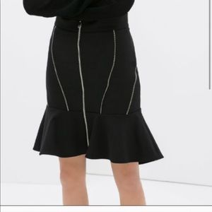 ZARA Zipper Skirt